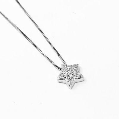 Girocollo stella con Diamanti ct 0.04