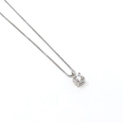 Quaglia Collana Punto Luce H036 Oro Bianco e Diamante ct 0.06 F VS2