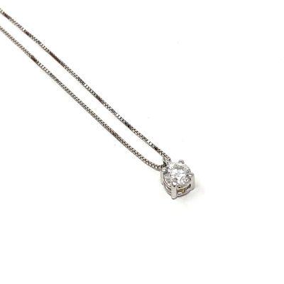 Quaglia Collana Punto Luce H036 Oro Bianco e Diamante ct 0.20 F VS2