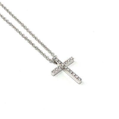 Girocollo Croce Diamanti ct 0.05