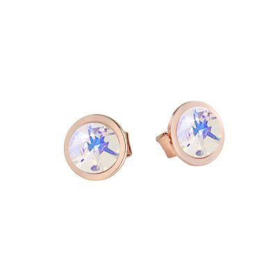Earrings rosati lobe with Swarovski crystal powder blue