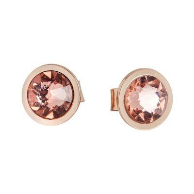 Earrings rosati lobe with Swarovski Crystal blush roses