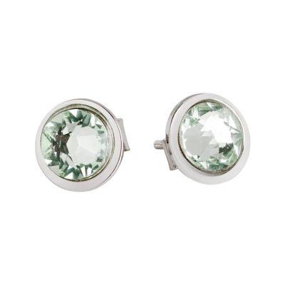 Earrings rosati lobe with Swarovski Crystal chrysotile