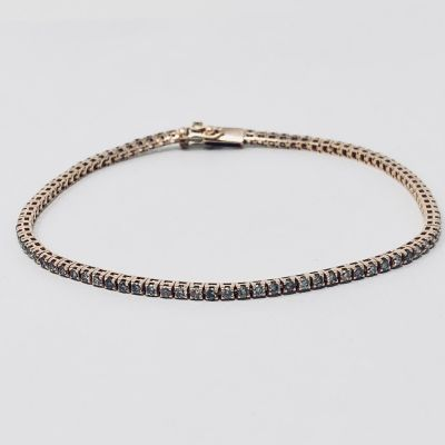 Maiocchi Milano Bracciale Tennis Diamanti Brown ct. 1,45