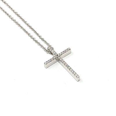 Girocollo Croce Diamanti ct 0.09