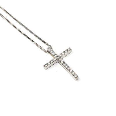 Girocollo Croce Diamanti ct 0.21