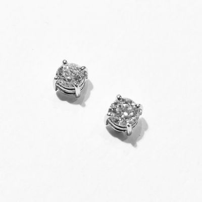 Orecchini punti luce con diamanti ct 0,80 F VS1