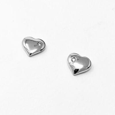 Orecchini Cuore con diamanti ct 0,01 G