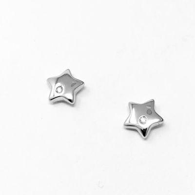 Orecchini Stelle con diamanti ct 0,01 G
