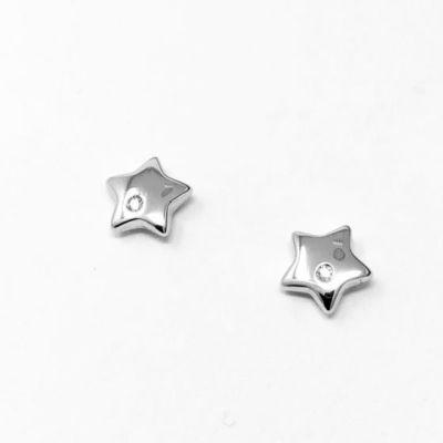 Orecchini Stelle con diamanti ct 0,02 G