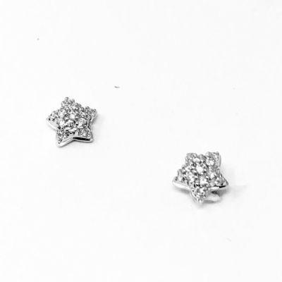 Orecchini Stelle con diamanti ct 0,07 G