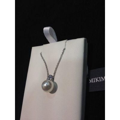 Mikimoto pendente mm.8x8.5 con brillante