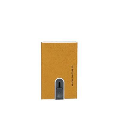 Piquadro porta carte di credito con sliding system PP5358B3R/G Black Square