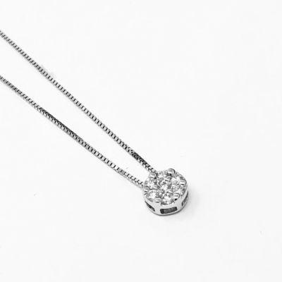 Girocollo punto luce con diamanti ct 0,10 G VS