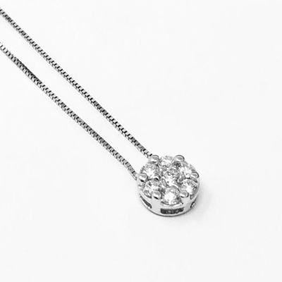 Girocollo punto luce con diamanti ct 0,22 G VS
