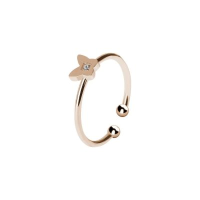 Ring Pink color with throttle and zircon nestled