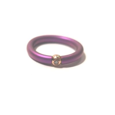 Quaglia Anello Titanio e Oro con Zaffiro e Diamante T018-R/A