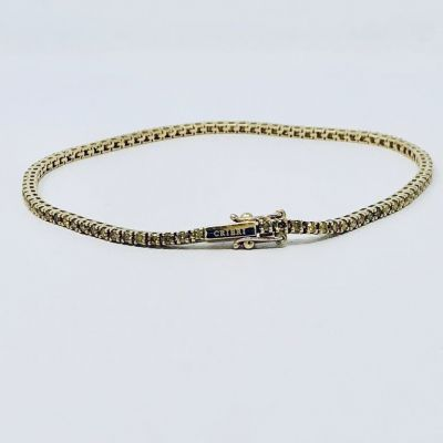 Bracciale Tennis Diamanti Gialli ct. 1.30