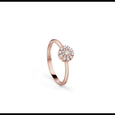 Damiani Anello Margherita Oro Rosa e Diamanti