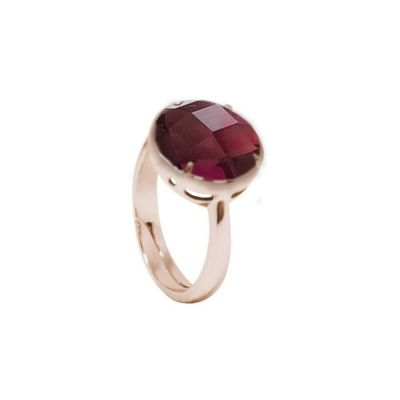 Ring with crystal amethyst color