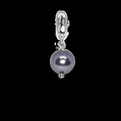 Charm con perla Swarovski mauve