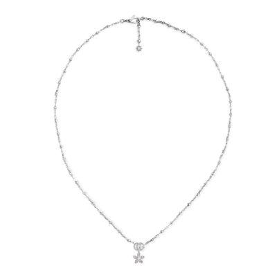 Collana Gucci Flora 18 carati con diamantiCollana Gucci Flora 18 carati con diamanti