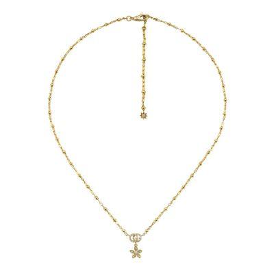 Collana Gucci Flora 18 carati con diamanti