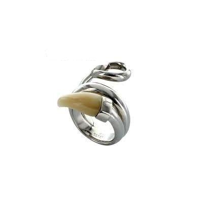 gucci anello horsebit corno