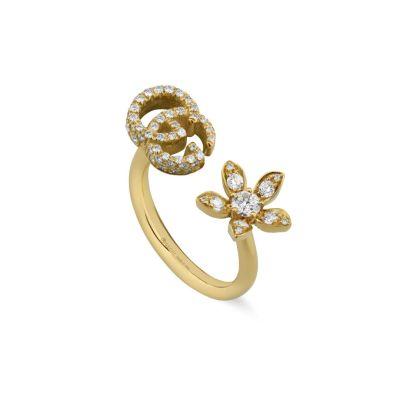 Anello Gucci Flora 18 carati con diamanti