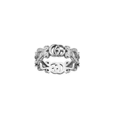 Anello Gucci Flora 18 carati con pavé di diamanti