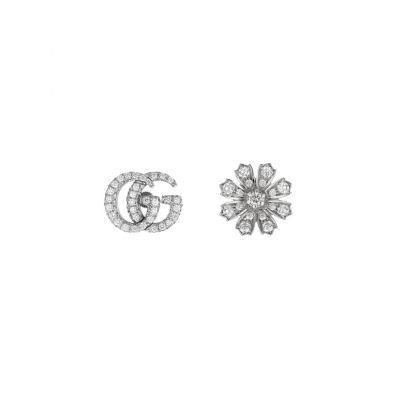 Orecchini Gucci Flora 18 carati con diamanti