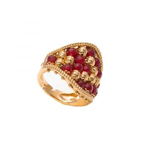 Ring in ruby-olored agate band