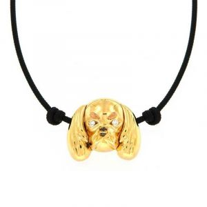 Gold Cavalier necklace