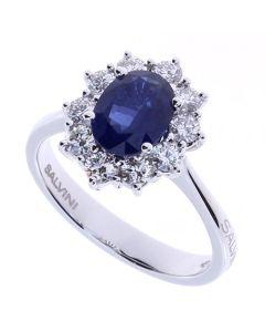 Salvini Anello Diamanti e Zaffiro 1.24