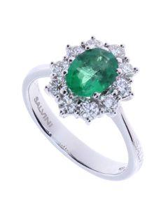 Salvini Anello Diamanti e Smeraldo 1.11