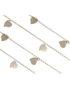 Maiocchi Silver Collana Cuori cm 90 Argento