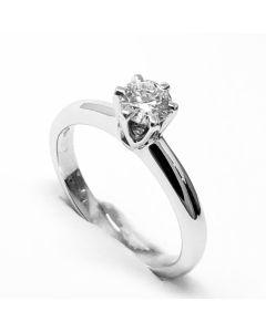 anello solitario ct 0,20 F VVS1
