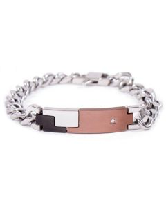 Steel Bracelet with central in colored PVD