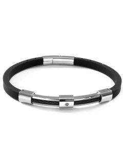 Bracelet in caucciù with tiller on steel