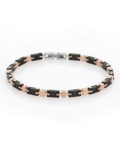 Modular Bracelet bicolor with zircons Neri