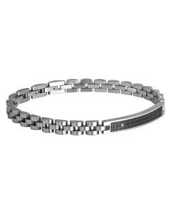 Bracelet links modular central, in PVD and zircon
