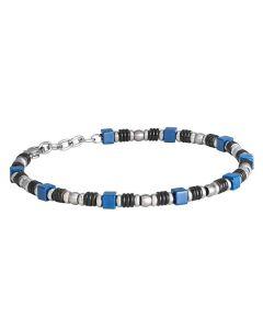 Steel Bracelet and blue ceramic tiles