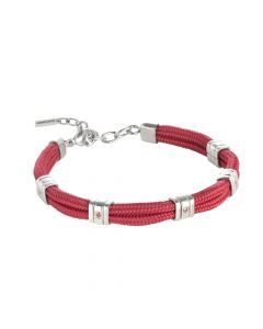 Bracelet in marine lanyard red and red crystals