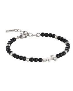 Bracelet with Obsidian Black and rodiati inserts