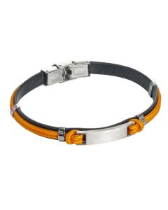 Bracelet in leather and lanyard marino orange