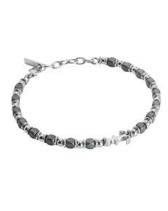 Bracelet beads with black hematite and yet