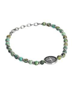 Bracelet with labradonite jasper and Rosa dei Venti