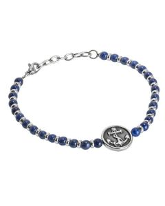 Bracelet with blue agate and yet