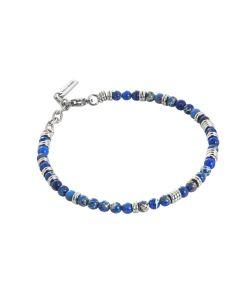 Bracciale con lapislazzuli blu