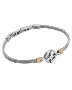Milan mesh steel bracelet with wind rose